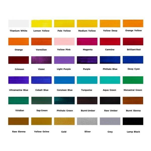 Acrylic Paint Set 36pc colours