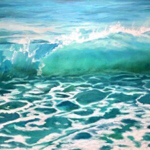 Beach wave ocean painting