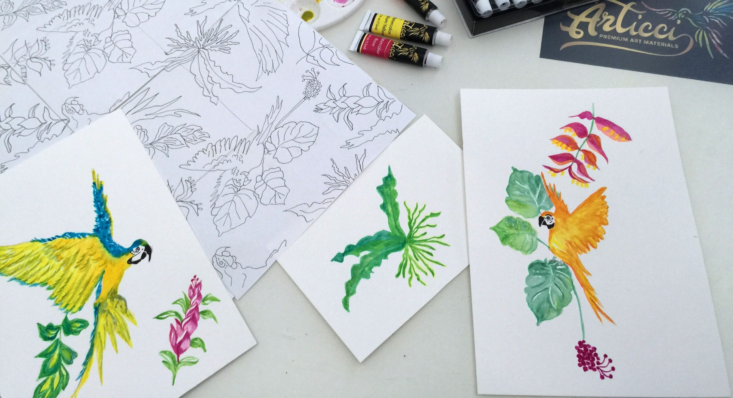 Tropical Coloring Book (Downloadable)