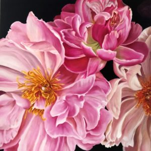 Flower Painting Dahlias by Tracy Saywell