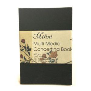 Milini Multi Media Concertina Book 300gsm