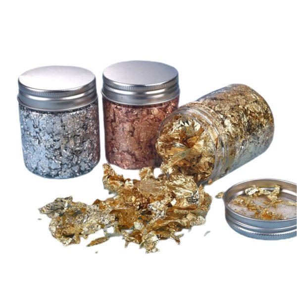 Metal Leaf Jars