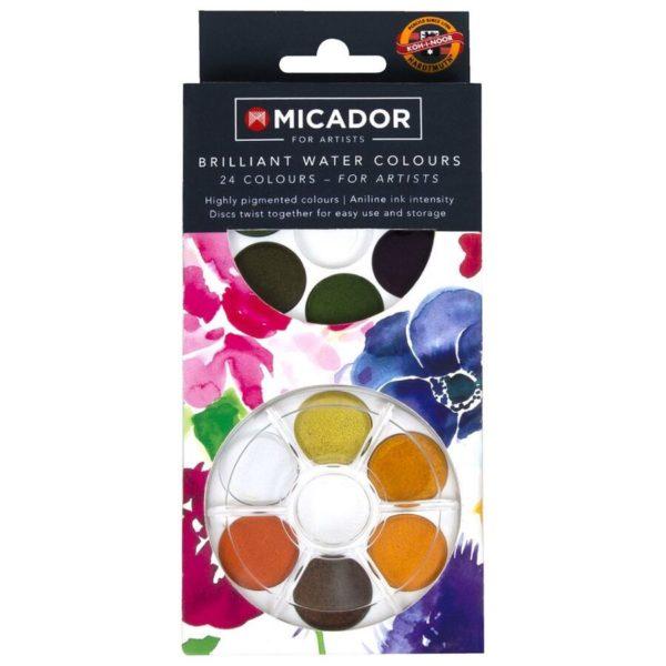 Micador Brilliant Watercolour Disc Set 24
