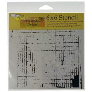 TCW456s Mini Sketch Grid Stencil